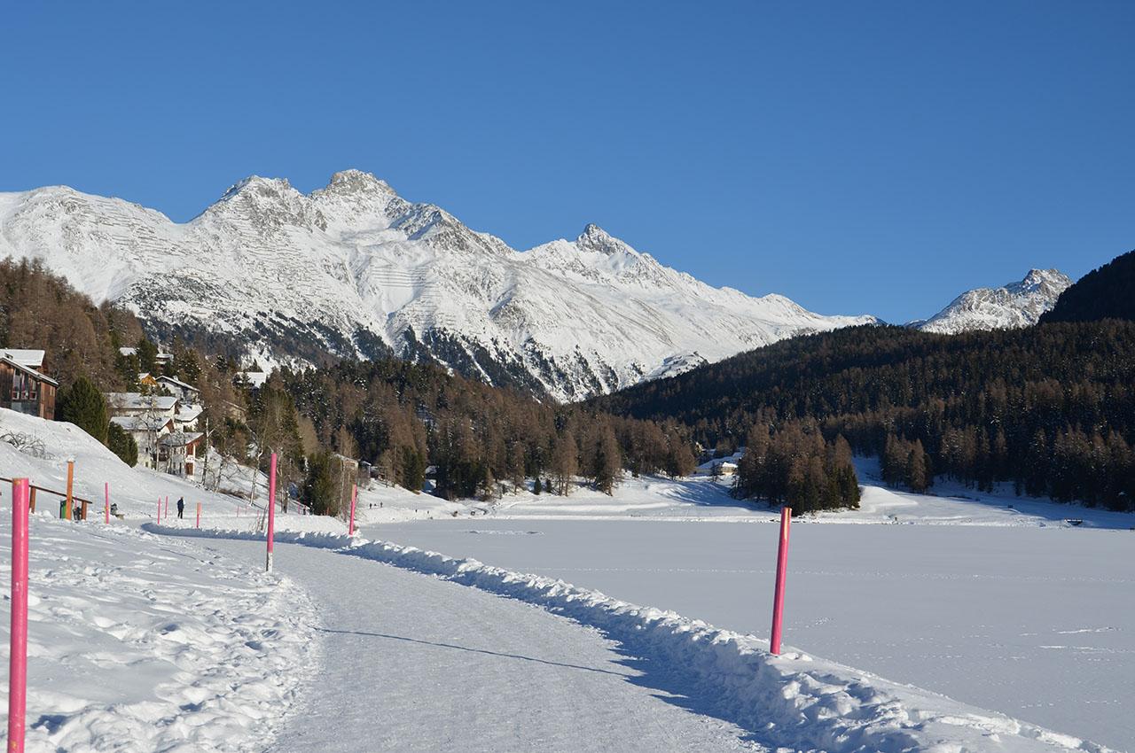 Schneelandschaft St. Moritz