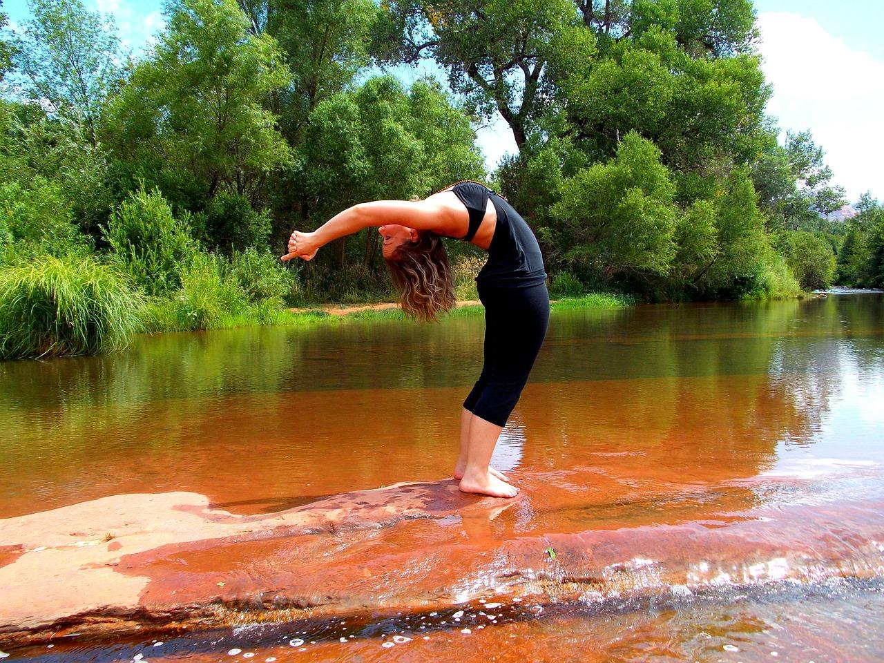 Laufen und Yoga
